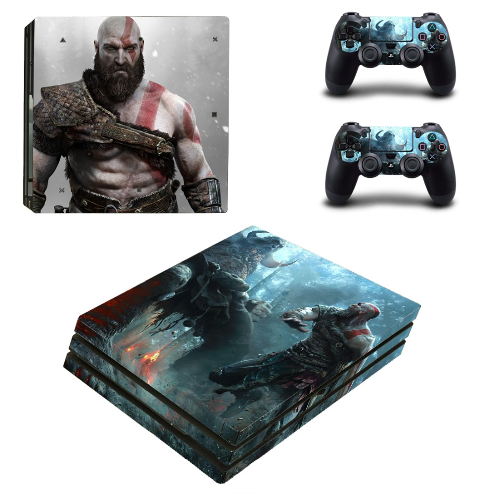 Game God of War PS4 Pro Skin Sticker Decal for PlayStation 4 PS4 Console and 2 Controller Skins