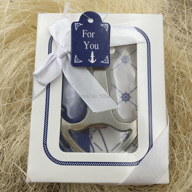 Anchor Soda Glass Cup Beer Wine Bottle Opener Wedding Party Favor