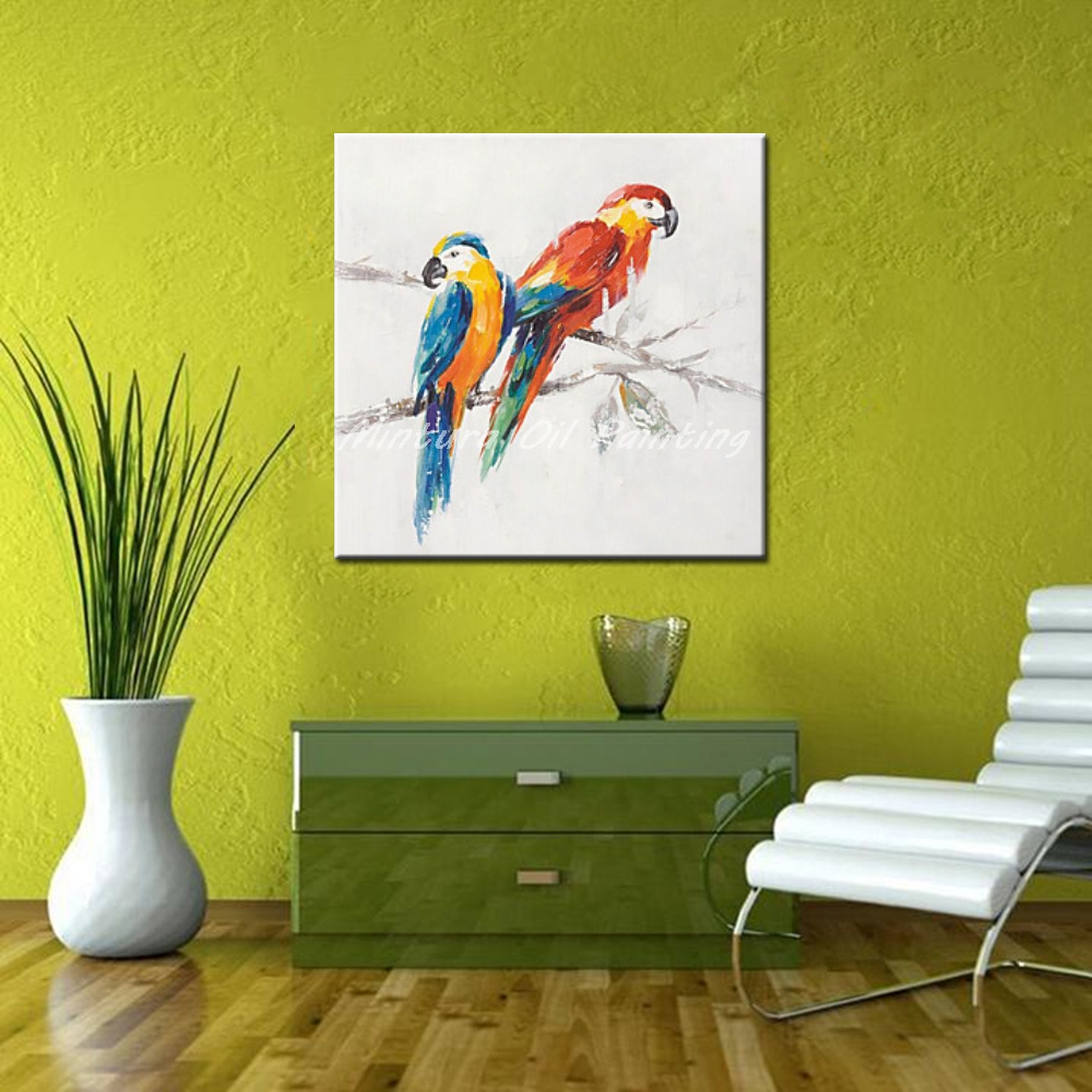 Aliexpress.com : Buy Mintura Pictures Hand Painted Parrots Animal ...