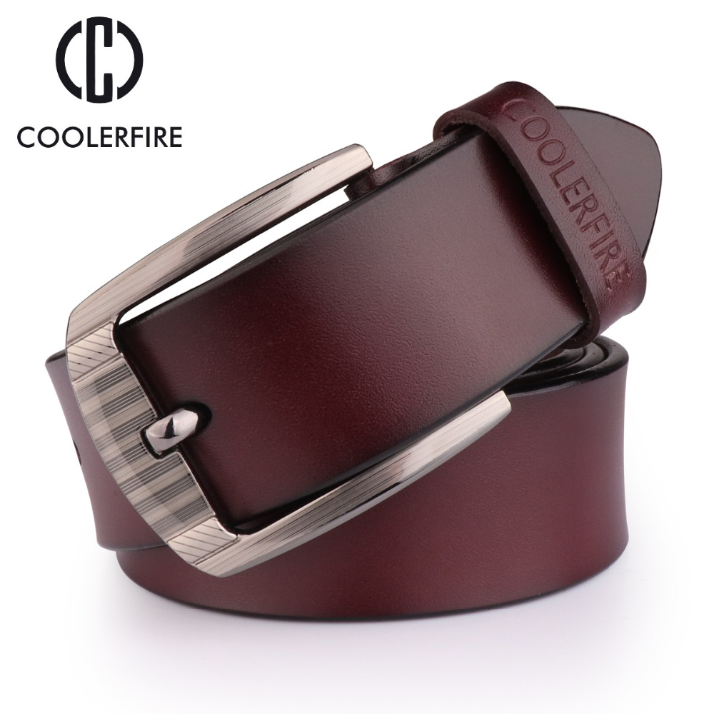 COOLERFIRE 2017 Belts For Men Genuine Leather Belts High Quality  Style Male Strap Classic Jeans Leather Belts For Men HQ054