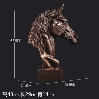 wholesale crafts home decoration birthday business gift horse Copper horse resin crafts creative wedding decoration