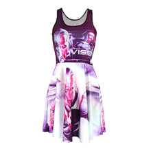 Hot sale Promotions New arrival Fashion 3D Women pink black print slim  Expansion sleeveless dress drop shipping  Free shipping 147abdea5