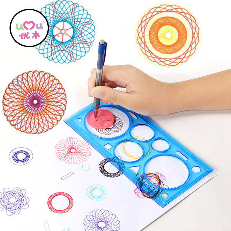 spirograph drawing toys set creative draw spiral design educational toys for children creative drawing random color