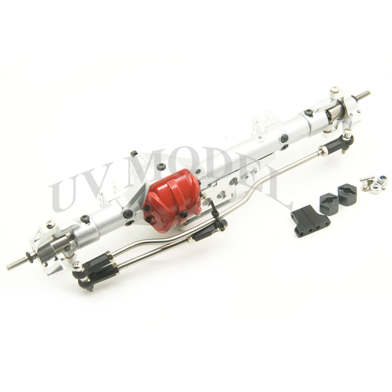 Silver Red 1/10 Axial Wraith Axle Alloy Aluminum Front Axle RC Rock Assembled Wraith Axles Metal Front Axles tc02311010047 tc0231101004 the housing for front axle