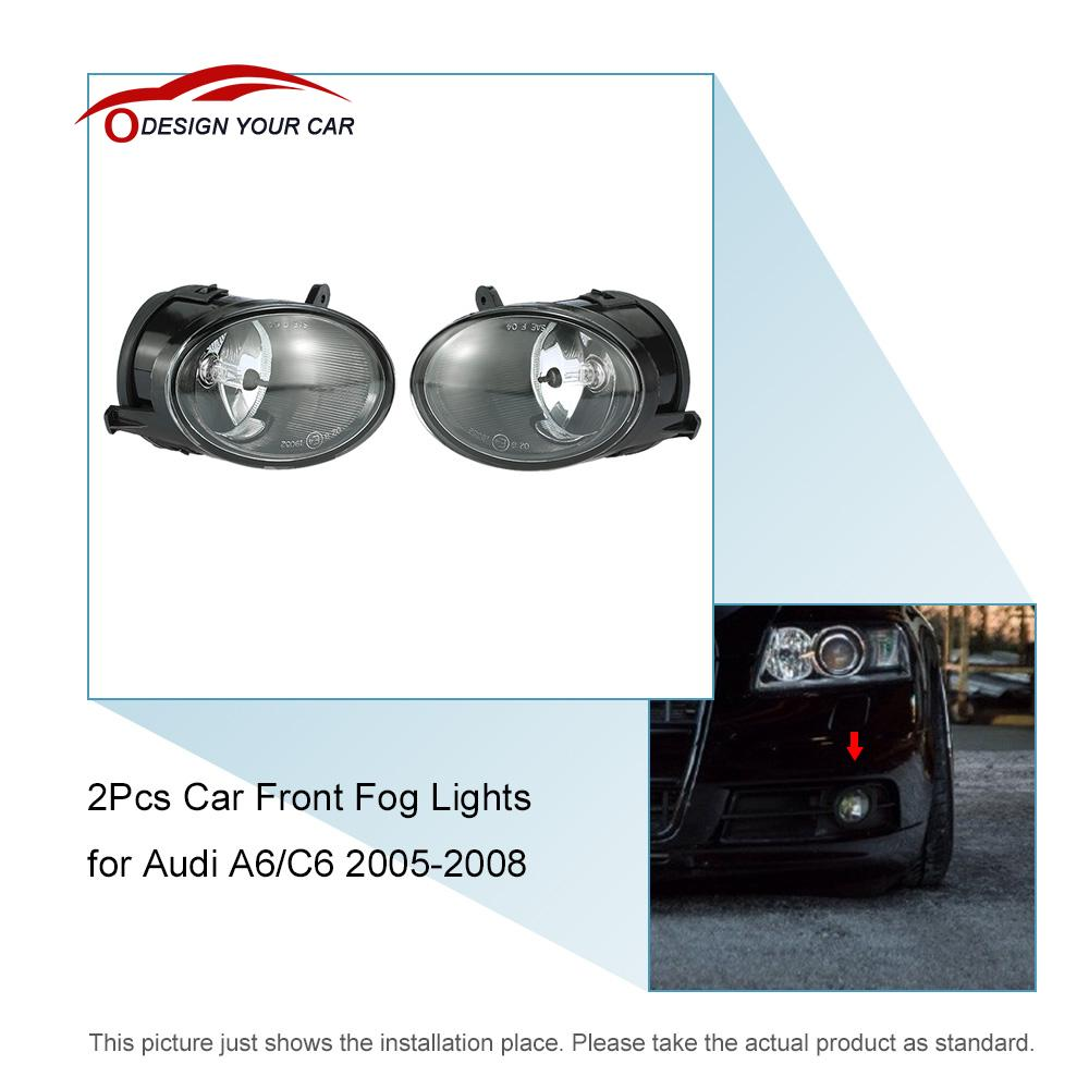 5 android 44 smart system gps navigation car rearview mirror dvr one pair of car front fog lights led lamp for audi a6 c6 2005 2008 fandeluxe Choice Image
