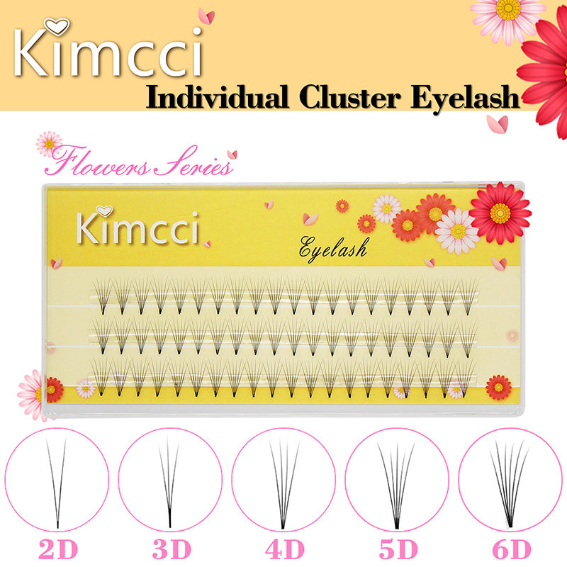 Ресницы Kimcci 3D/4D/5D/6D для наращивания объема, искусственная норка, 3 линии