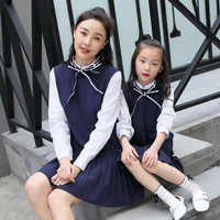 Mother Daughter Dresses Mama and Kids Children Clothing Mother and Baby Girl 2017 High Quality Autumn Fashion Dress