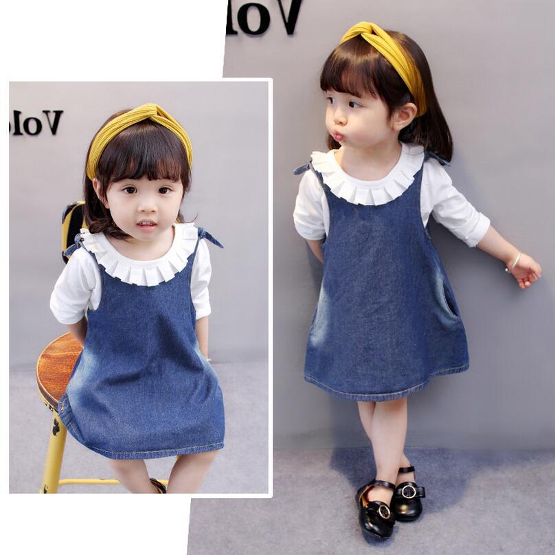 Herfst nieuwe meisjes kleding peuter meisjes jurken kinderen merk - Kinderkleding