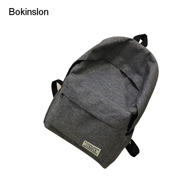 b0ad67a30a4d Bokinslon Simple Backpacks Woman Large Capacity Canvas Travel Men School  Bags Practical College Wind Unisex Casual Backpack