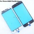 Премиум + 6 S Передняя Внешний Объектив Сенсорный Экран Стекла С рамка Для iphone 6 6 plus 6 s plus Запчастей замена