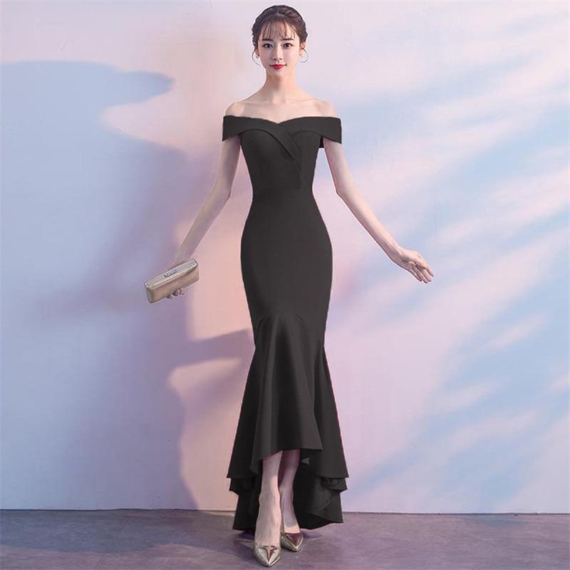 It's Yiiya evening gowns Zipper back Boat Neck short sleeve party dresses Elegant Floor-length Backless trumpet Prom dress C149