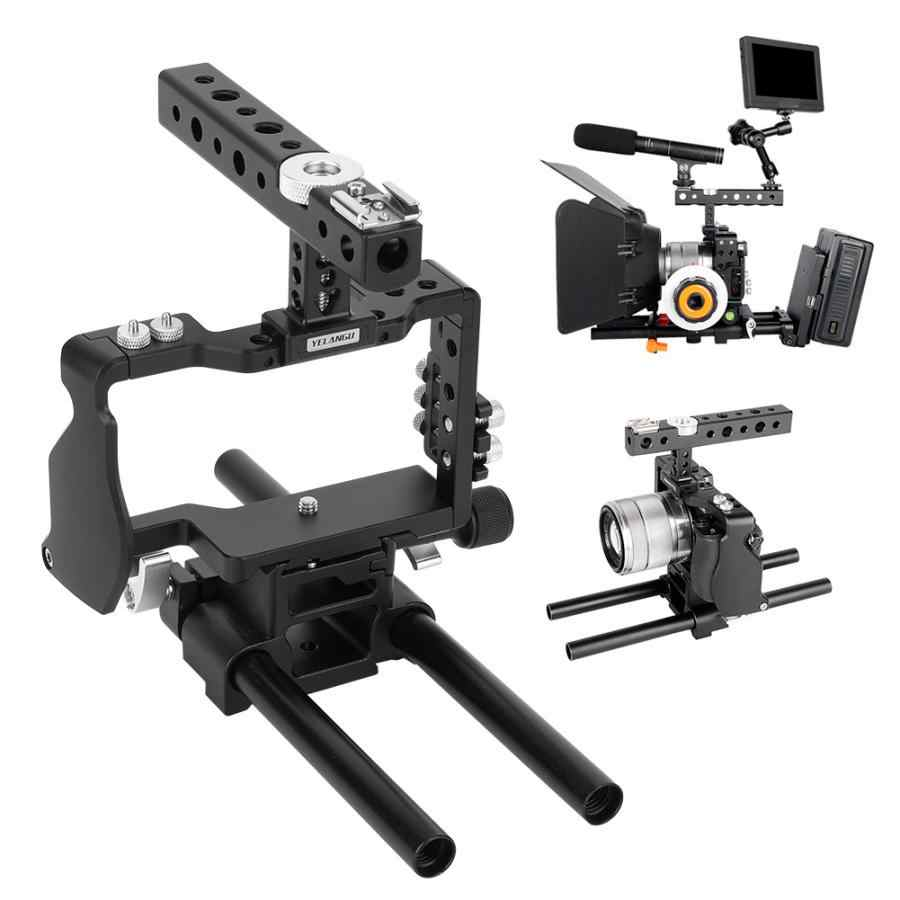 Yelangu C6 Kooi Kit Top Handgreep Stabilisator Voor Sony A6000 A6300 A6500 Mirrorless Camera