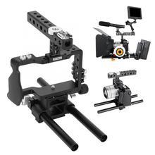 YELANGU Kit de jaula con estabilizador de agarre y mango superior para cámara Sony A6000 A6300 A6500, sin espejo