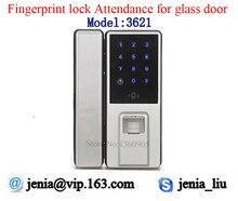 New Metal Fingerprint Attendance Door Lock Access Control System for Frameless Glass Door