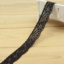 2yard 2.5cm DIY Black lace dress decoration fabric bedding handwork childrens wear underwear wedding accessories