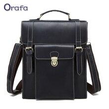 2017 Vintage Brand Genuine Leather Men Bag Business Men's Briefcase Laptop Luxury Crazy Leather Men Shoulder Bag Men Travel bag