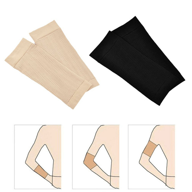 3da213becf 1 Pair 680D Compression Arm Shaper Workout Toning Burn Cellulite Slimming Arms  Sleeves Fat Burning Short Sleeves for Women 190mm-in Arm Warmers from  Sports ...