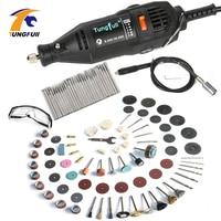 Electric Power Tools Mini Drill Dremel Rotary Tools Accessories With 106pcs Drill Bits Cutting Discs Sanding