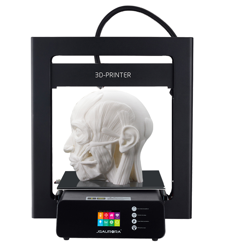 JGAURORA 3d Printer A5 Large Print Size 305X305X320mm Resume Print 2.8'' HD Touch Screen with Heated Build Plate