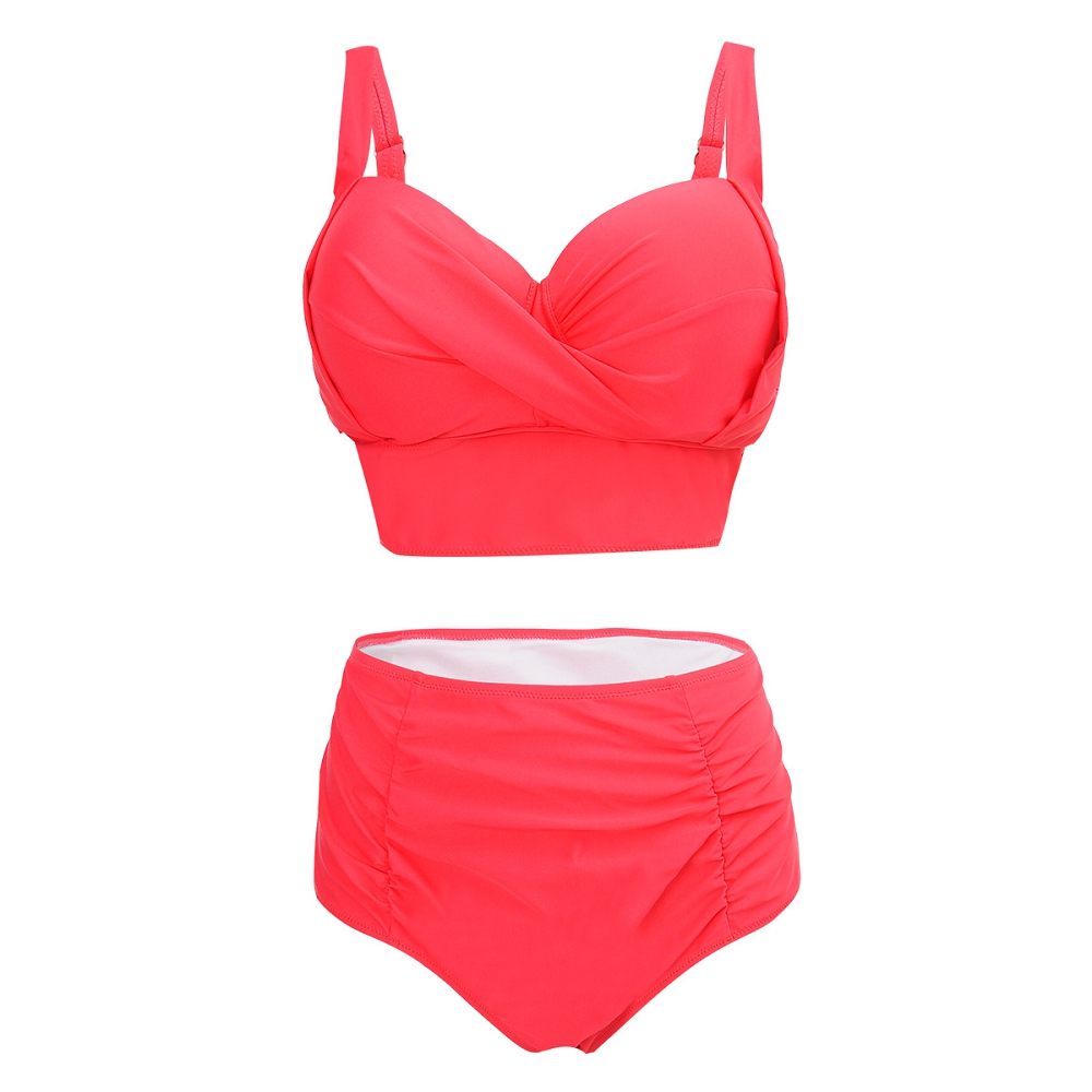 YOUDIAN 2017 Plus Size Swimwear Women Sexy Bikini High Waist large Size Swimsuit Bathing Suit Push Up Bikini Set Beach Wear hot sale women ladies sexy retro padded push up tassel high waist plus size bikini swimwear swimsuit bathing