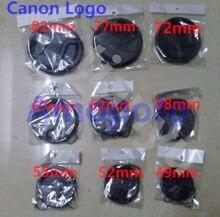 9 PCS Camera Lens Cap Capa de Proteção 49mm/52mm/55mm/58mm/62mm/67mm/72mm/77mm/82mm para Canon lens Acessórios