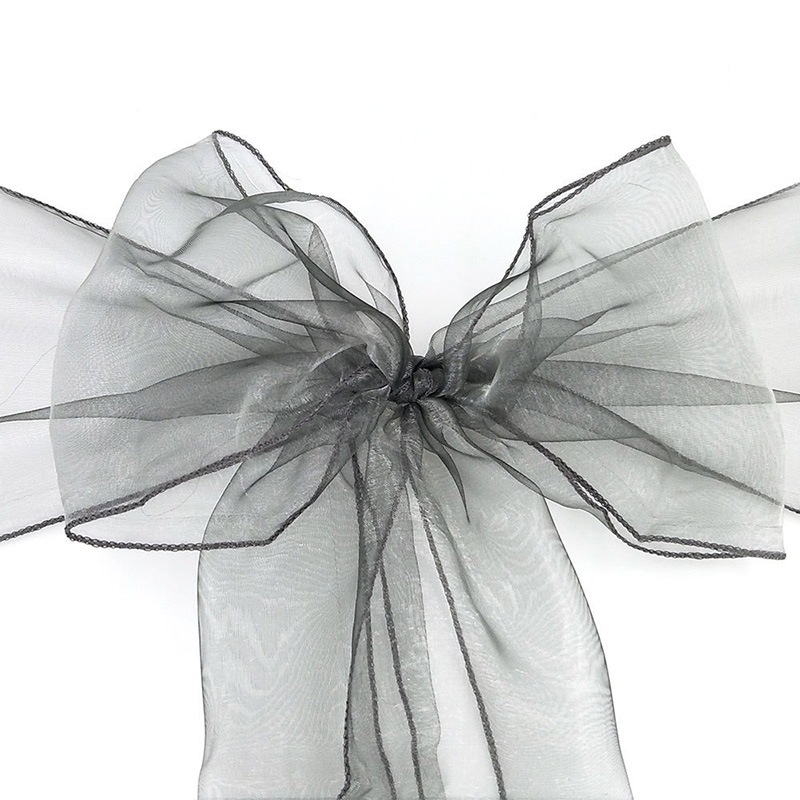 18X275cmFashion Sale Organza Chair Sashes Bow Cover Chair Sashes Tulle for Weddings Events Party Banquet Christmas Decoration in Sashes from Home Garden