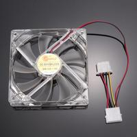 4pcs High Quality Blue LED Light Neon Clear 120mm PC Computer Case Cooling Fan Mod Radiators