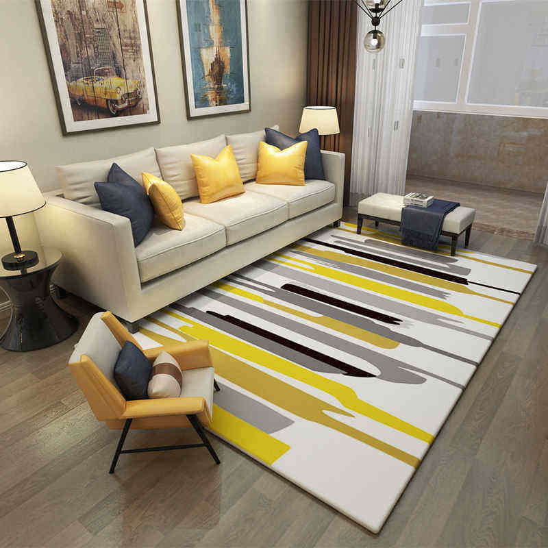 Large Area Carpets Rugs Europe Bedroom Striped Living Room Carpet Washable Suede Mats Rectangle