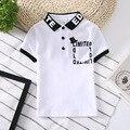 Inmusion 2017 verão novo marca de luxo britânica bebê meninos clothing curto-de mangas compridas lapela camisa polo xadrez clássico casual sportswear