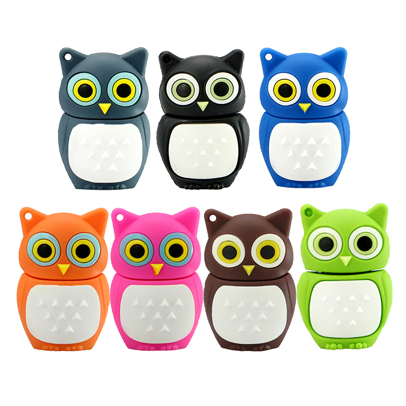 Cute Owl USB 2.0 Flash Drive Storage esterno Pendrive 64 GB 32 GB 16 GB 8 GB 4 GB 2 GB Cartoon USB Flash Disk migliore regalo