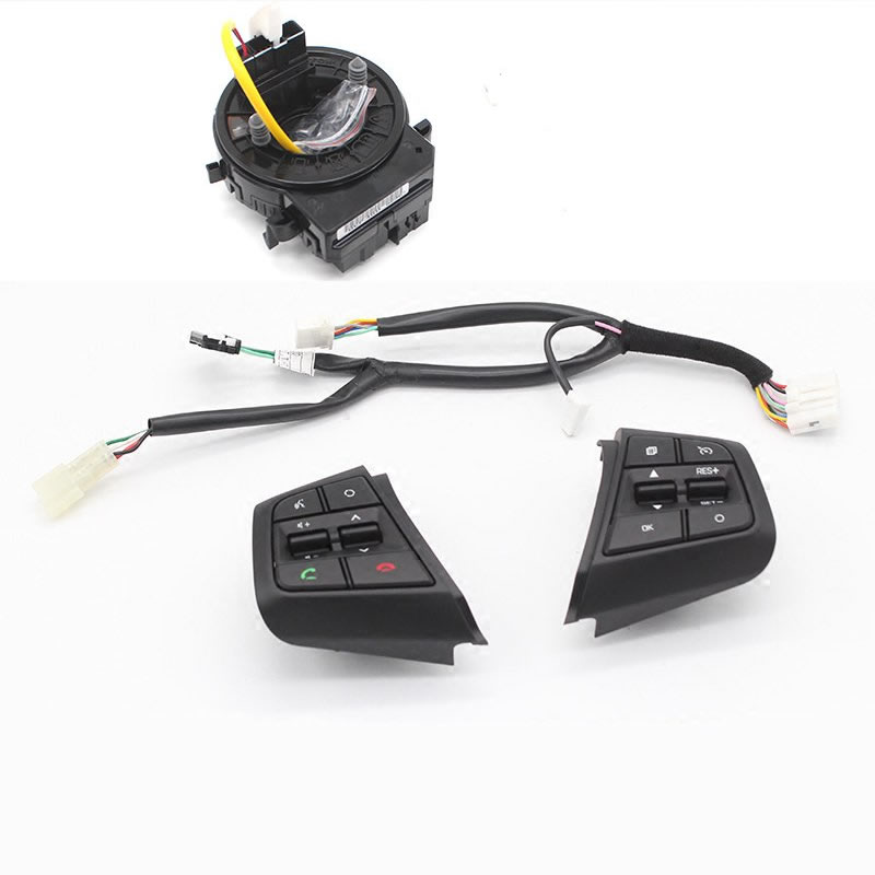 Remote Cruise Control Button Car Steering Wheel Control Buttons with cables For Hyundai ix25 2 0L