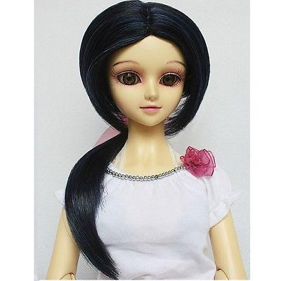 "[wamami]09# Dark Blue Pigtai Wig 1/3 SD DOD DZ BJD Dollfie 8-9"""