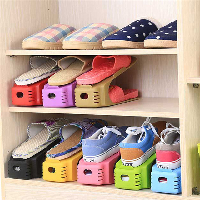 New popular shoe racks modern double cleaning storage for Rack room kids shoes