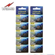 10pcs/Pack Wama CR1225 Lithium 3V Button Batteries Car Remote Key Battery Wholesale 3D Glasses LM1225 BR1225 ECR1225