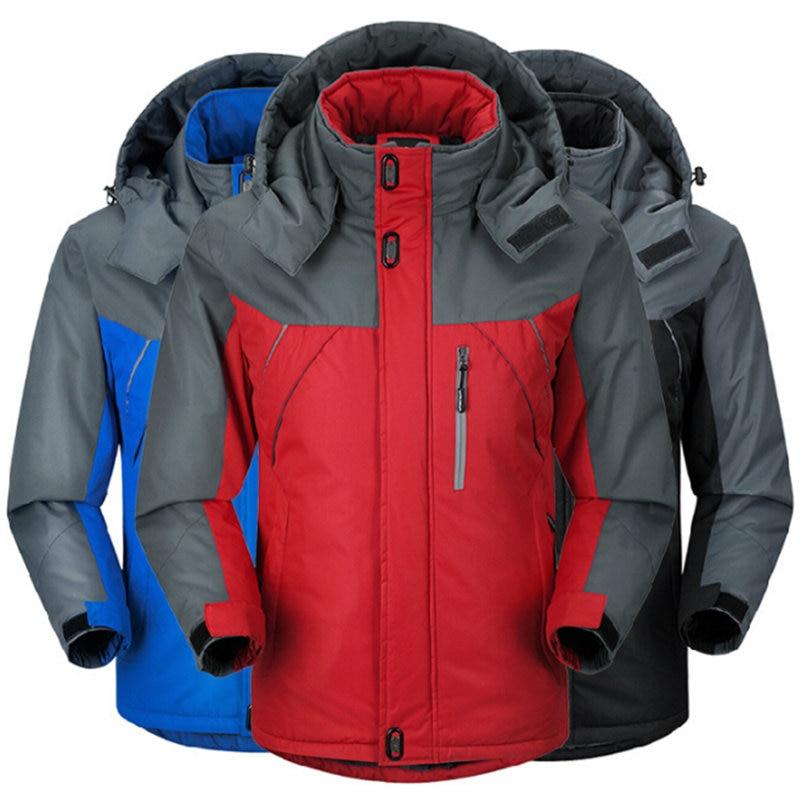 5XL Men Thick Jacket Windbreaker Winter Plus Velvet Jacket Men Windproof Mens Jacket Coats Male Outwear Waterproof Causal
