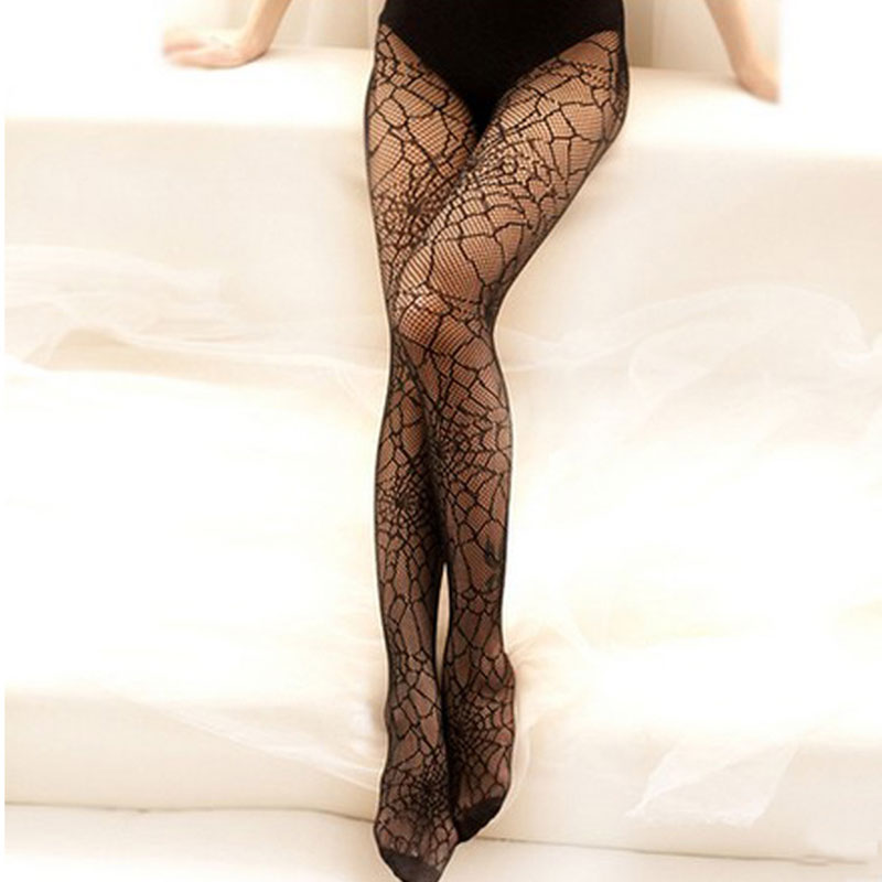2019 New Sexy Women Pantyhose Spring Thin Stockings Tights Sheer Elastic Spider Web Net Hosiery Long Exotic Medias