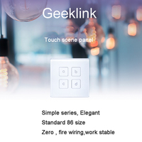 Geeklink Scene Touch Switch Control The Feedback Switch To Control The Light Remote Control By Phone