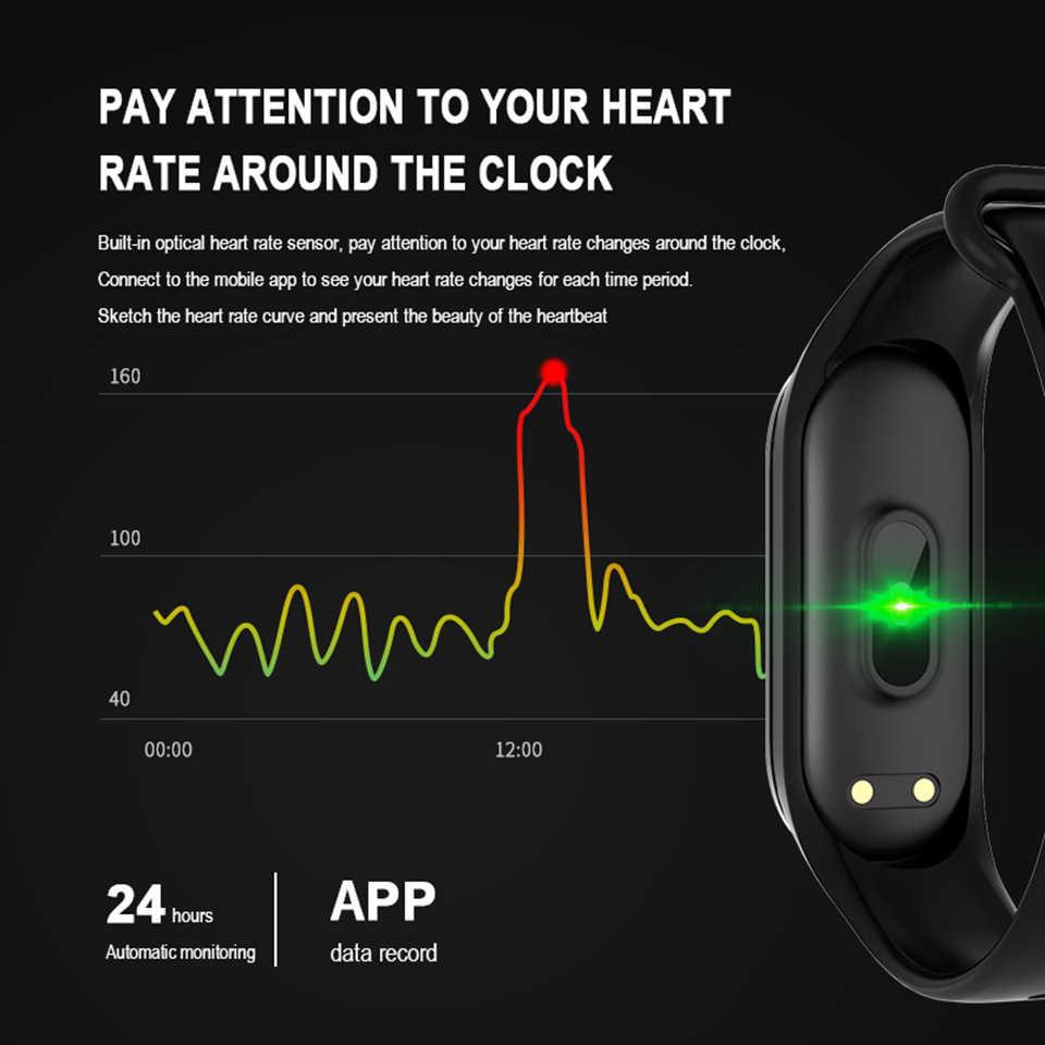 حزام لياقة M4 الذكية معصمه الرجال النساء الرياضة النشاط تعقب سوار صحي ضغط قياس PK xiaomi mi الفرقة 4 العالمية