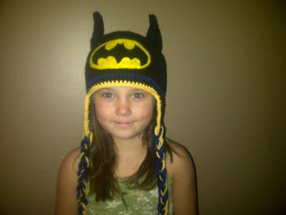 Free Shipping Crochet For Children S Cartoon Batman Hat
