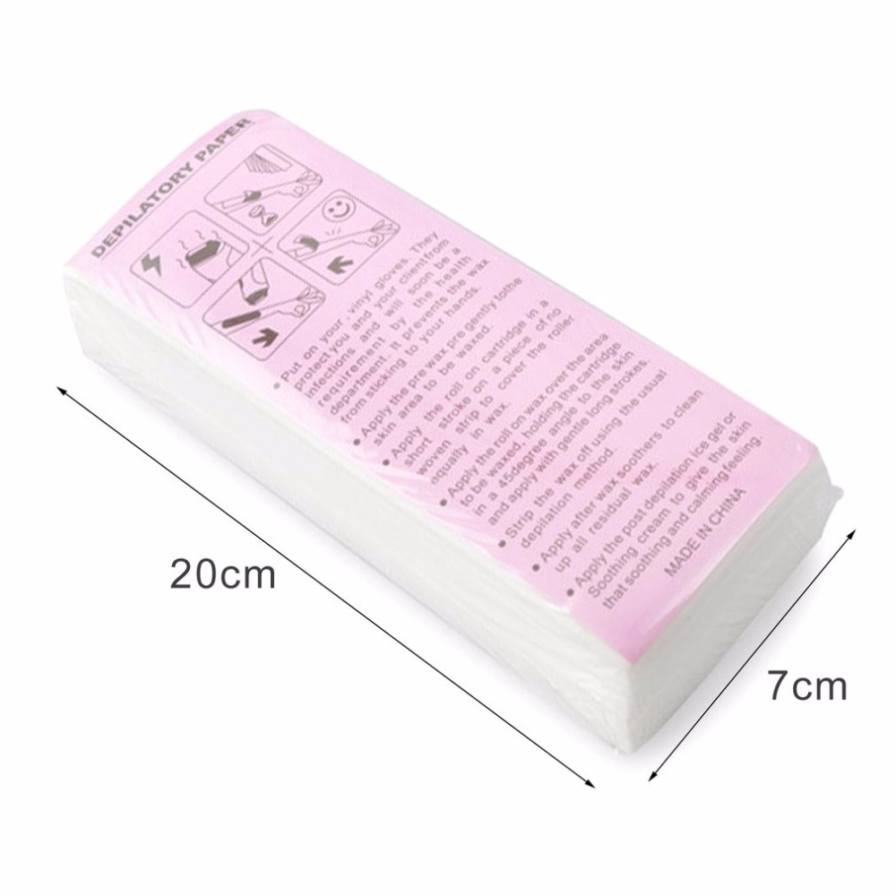 100pcs Professional Hair Removal Waxing Strips Non-woven Fabric Epilator Wax Papers Depilatory Beauty Tool For Leg Hairs Removal