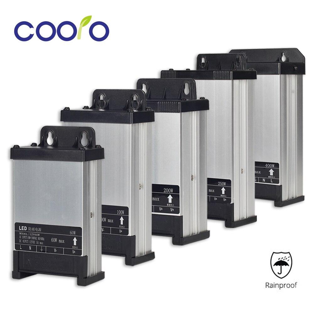 DC12V AC220V 60 W 100 W 200 W 250 W 400 W LED Driver Transformador de Iluminação da fonte de Alimentação À Prova de Chuva Ao Ar Livre uso
