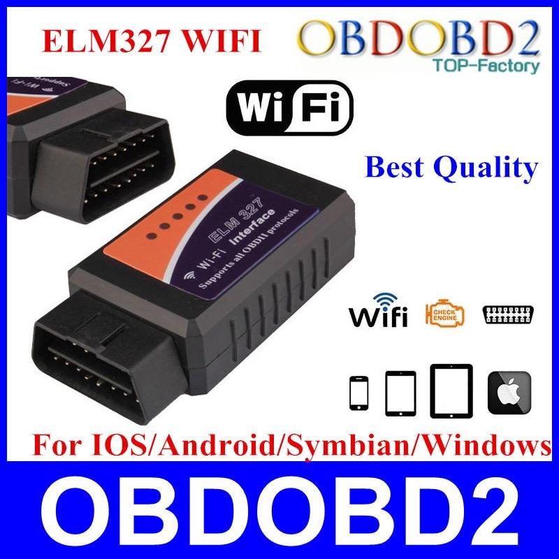 Prix pour Prix usine WIFI ELM 327 Auto Diagnostic Scanner Pour Android et IOS Système ELM327 WIFI Support Tous OBD2 Protocoles