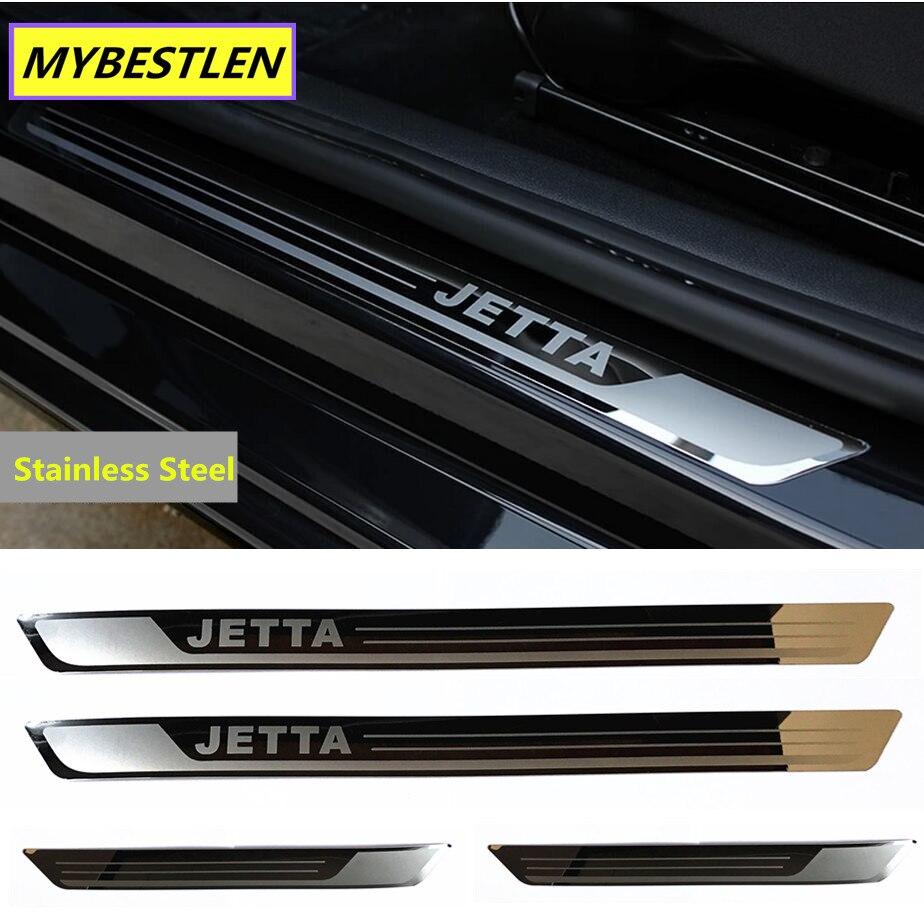 4 шт., отлично новые накладки на пороги дверей из нержавеющей стали для VW Volkswagen Jetta MK6 2011-2015, аксессуары для стайлинга автомобилей