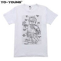 Men Casual T Shirts Humanoid Project Design Digital Printed 100 Combed Cotton Short Sleeve Quality Customized