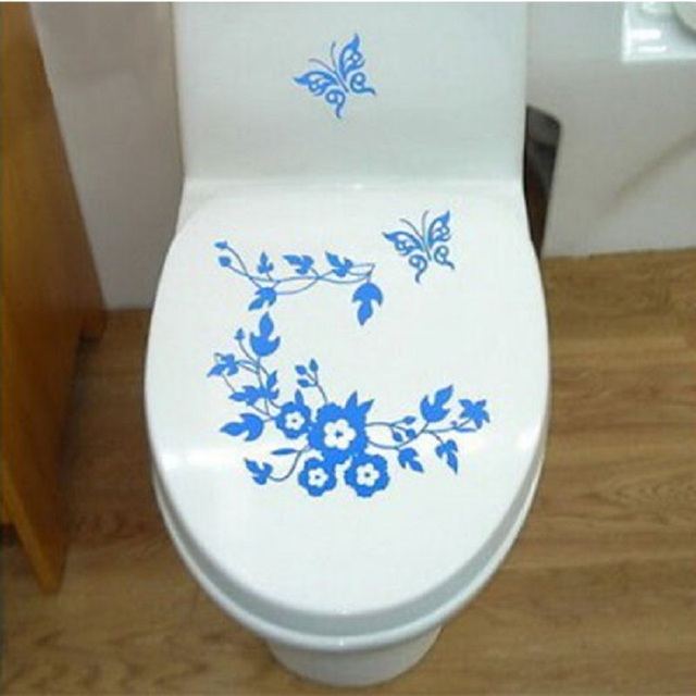 unusual wall stickers dog wall new unusual butterfly flower sticker home decoration bathroom toilet laptop wall decals special