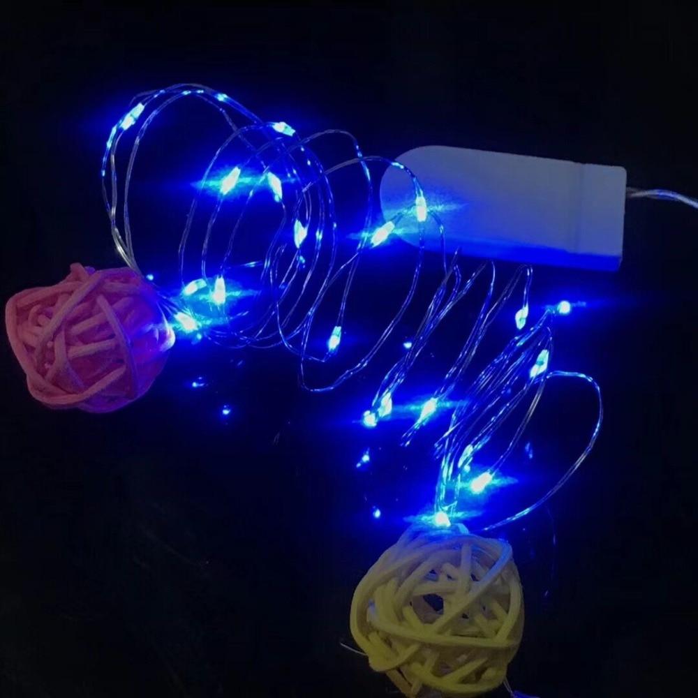 HTB1s0CHa4 rK1RkHFqDq6yJAFXae Holiday string 5M 4M 3M 2M 1M LED Creative 7 Color Button Battery Box of Copper Lamp Series Mini Small Decorative lights
