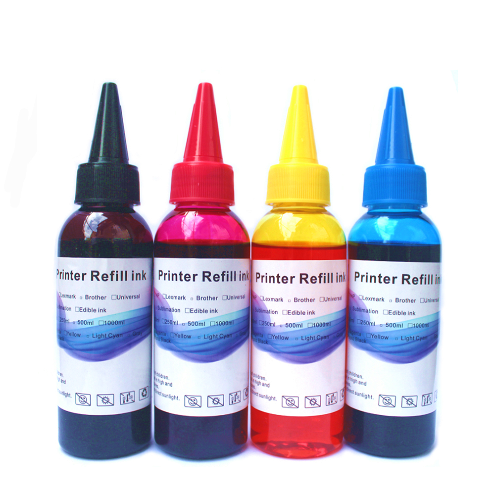 Printer Ink Refill Kit for Epson Canon HP Brother for Dell Kodak Inkjet Ciss Cartridge 4x100ml in Ink Refill Kits from Computer Office