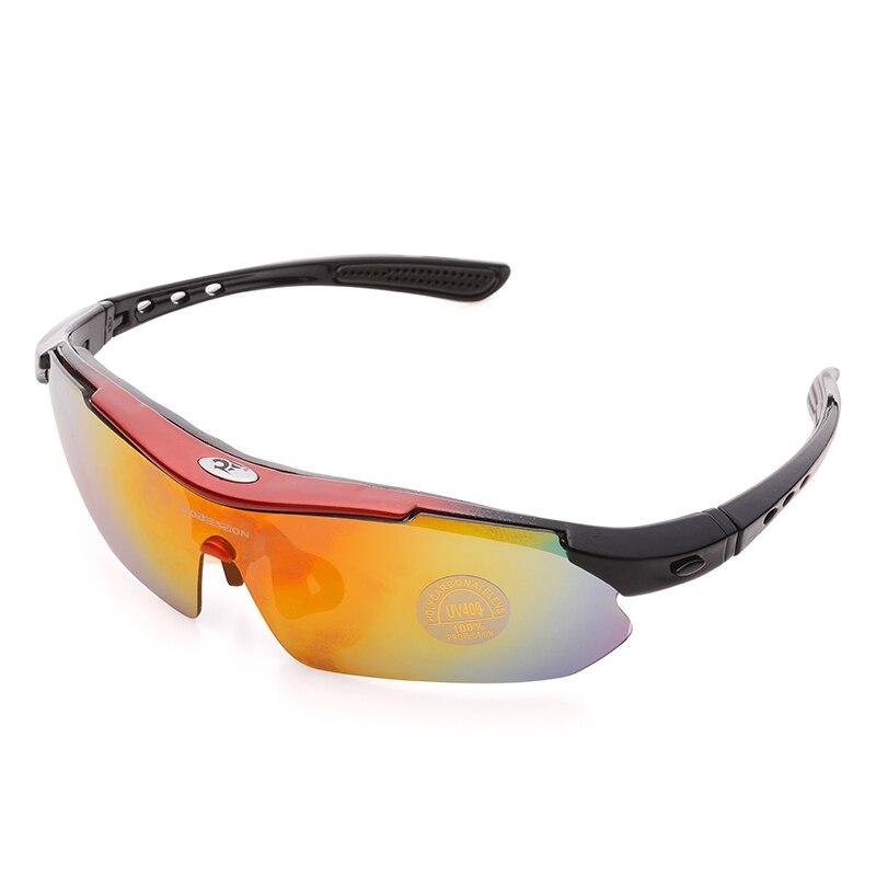 Mode Unisex Outdoor Sport Sonnenbrille Rennrad Brille Mountainbike Fahrrad Reiten Schutz Brillen Set