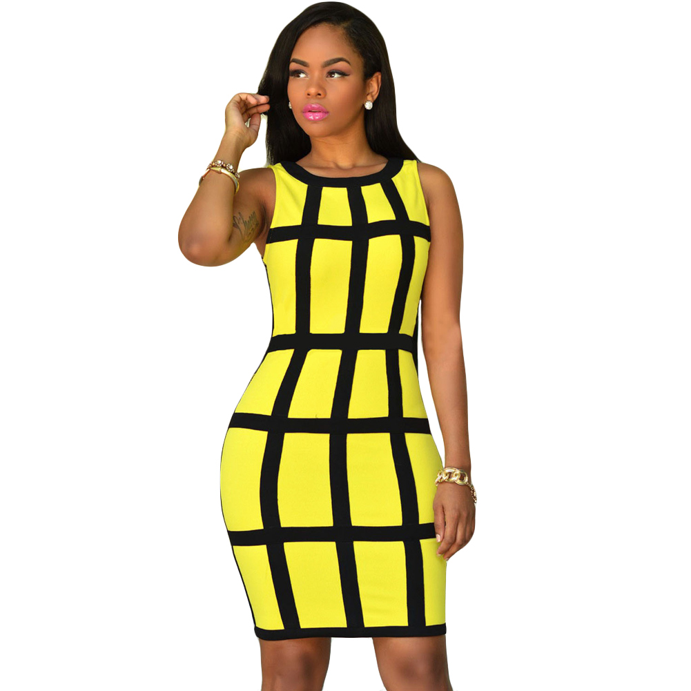 Buy plaid sundress yellow and get free shipping on AliExpress.com 967bd1069deb