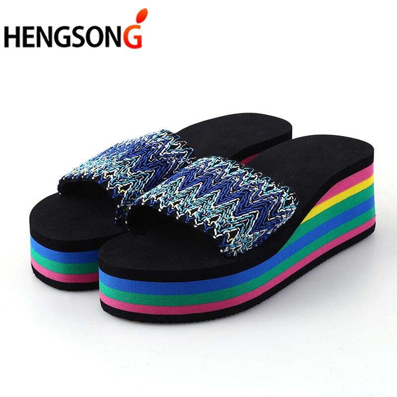 Sandals Beach House: HENGSONG Women Sandals Slippers New Summer Fashion Rainbow